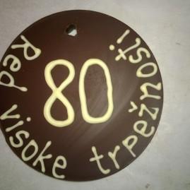 Napis na čokoladi- medalja