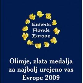 Zlata vas Evrope 2009 Olimje