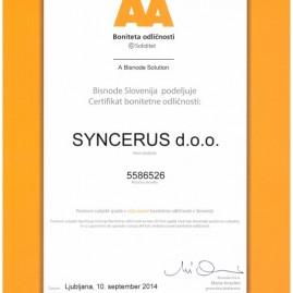 Boniteta AA+ Syncerus d.o.o.
