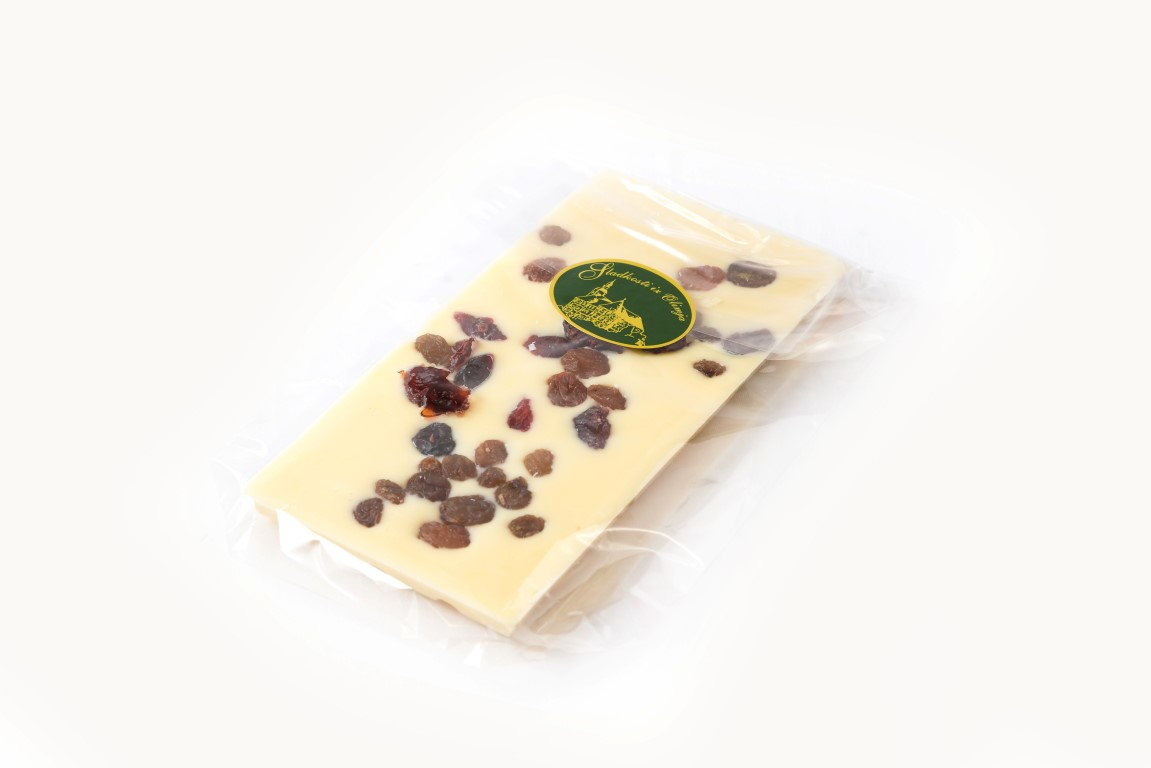 Bela čokolada z rozinam 100 g
