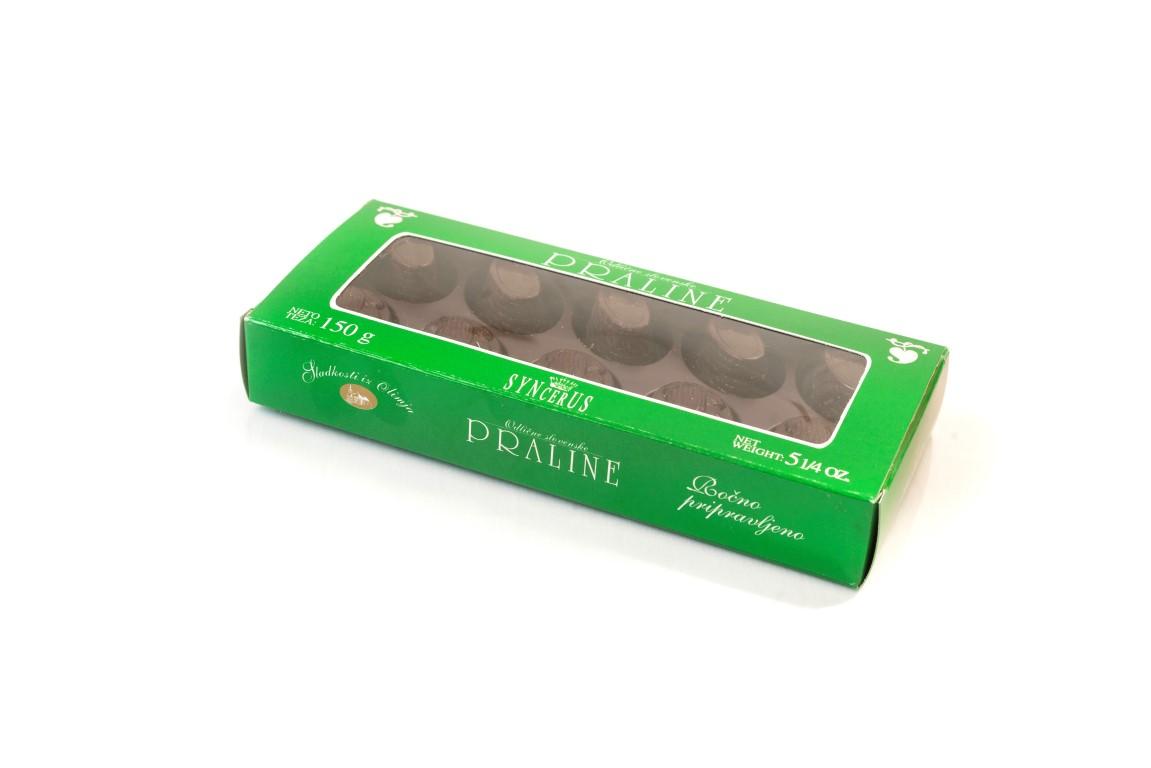 Bonboniera Persipan v temni čokoladi