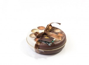 Bonboniera Okrogla kovinska